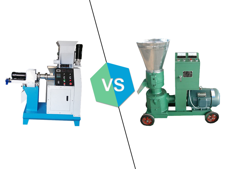 the difference between fish pellet mill and fish extruder