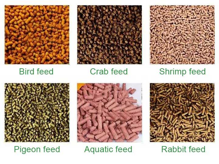 animal pellet feed material